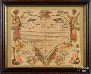 Georg Friederich Speyer, fraktur birth certificate