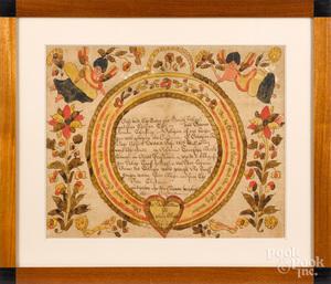 Blousy Angel Artist, fraktur birth certificate