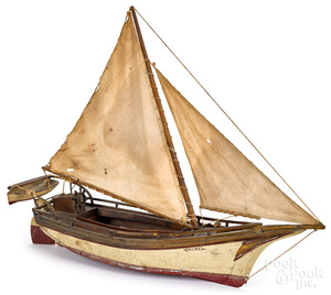 Painted Alice sailboat model