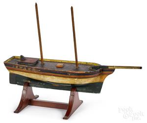 Painted Swan sailboat model