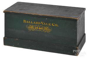 Ballard Vale Co. painted basswood storage box