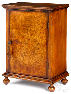 Pennsylvania maple and burl veneer dresser cabinet