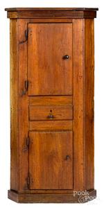 Pennsylvania diminutive walnut corner cupboard