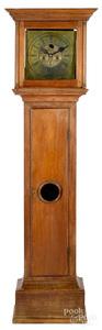American Queen Anne walnut tall case clock