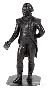 Patinated bronze figure of George Washington