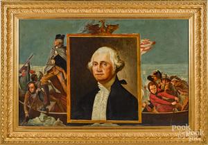 Large oil on canvas of George Washington
