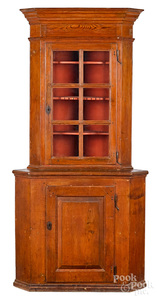 Pennsylvania or Southern two-part corner cupboard