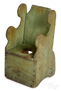 New England painted pine child's potty chair