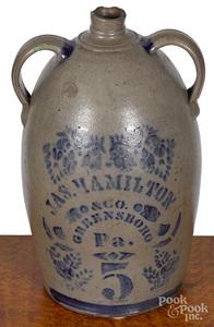 Western Pennsylvania five-gallon stoneware jug