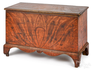 Pennsylvania painted pine and poplar blanket chest