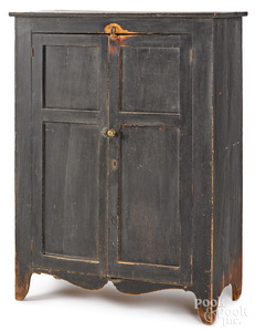 Pennsylvania painted pine jelly cupboard