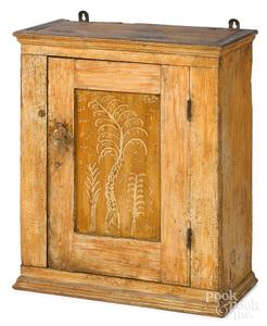 Pennsylvania painted pine hanging cupboard