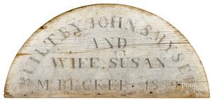 York, Pennsylvania date marker