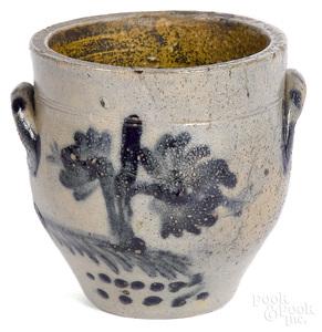 Miniature stoneware crock