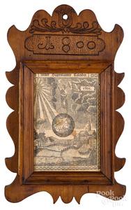 Carved maple calendar holder