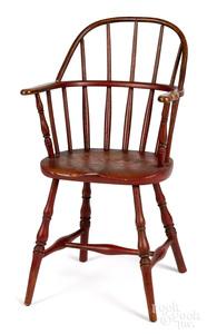 New England child's sackback Windsor chair