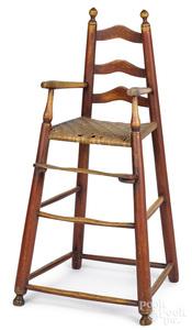 Painted ladderback highchair