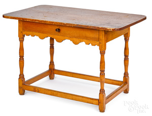 New England pine and birch tavern table