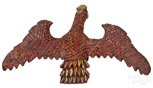 Wilhelm Schimmel, carved spread winged eagle