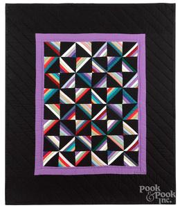 Amish pieced crib quilt