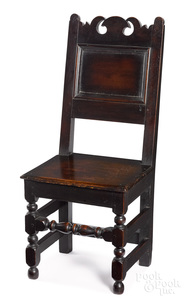 William and Mary walnut wainscot chair