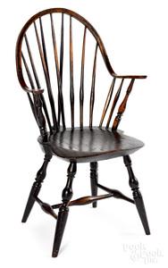 Continuous arm braceback Windsor chair