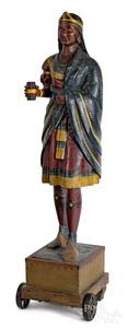 Native American cigar store Indian princess figure