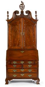 Pennsylvania Chippendale mahogany secretary desk