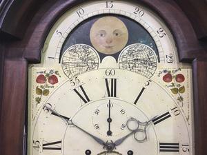 Philadelphia Chippendale mahogany tall case clock