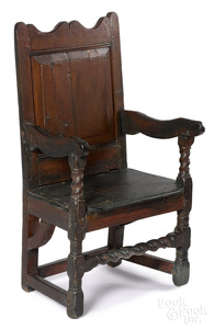 Delaware Valley William and Mary wainscot armchair