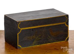 New England painted pine dresser box