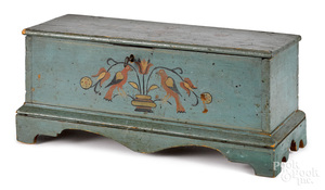 Painted pine miniature blanket chest