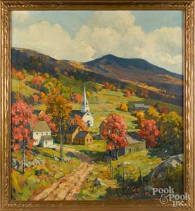 Charles Curtis Allen, oil on canvas landscape
