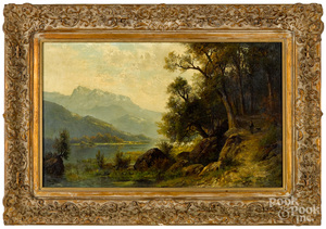 Carl Philipp Weber, oil on canvas landscape
