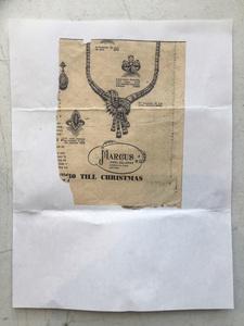 Mid-century platinum and diamond necklace