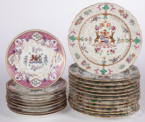 Set of twelve Samson porcelain plates