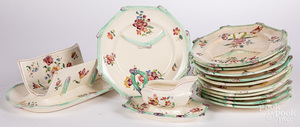 Longchamp majolica asparagus plates and dishes