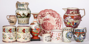 Collection of Staffordshire wares