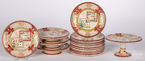 Twelve Ashworth porcelain dinner plates