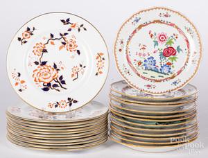 Set of twelve Gaudy Staffordshire plates