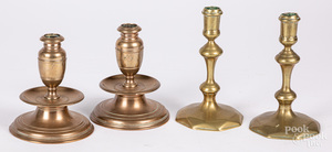 Pair of bell metal candlesticks