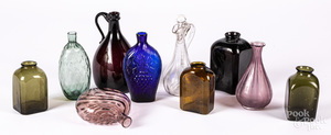 Group of glass bottles and flasks