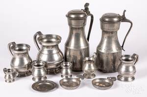 Group of English and Continental pewter