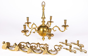Williamsburg reproduction brass chandelier