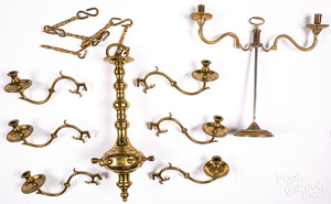 Williamsburg reproduction brass candelabrum