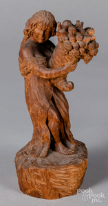 Carved mahogany allegorical figure