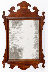 Small Chippendale mahogany looking glass