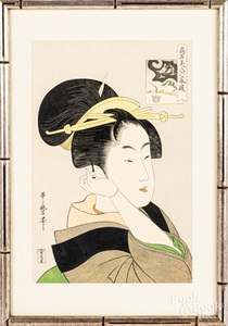 Four Chinese rice paper paintings, etc.