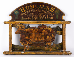Painted Romulus III Prize Bull sign