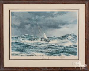Montague Dawson signed lithograph